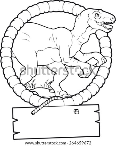 velociraptor - stock vector