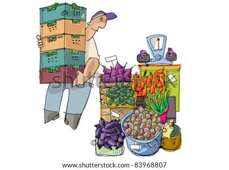 vendor - stock vector
