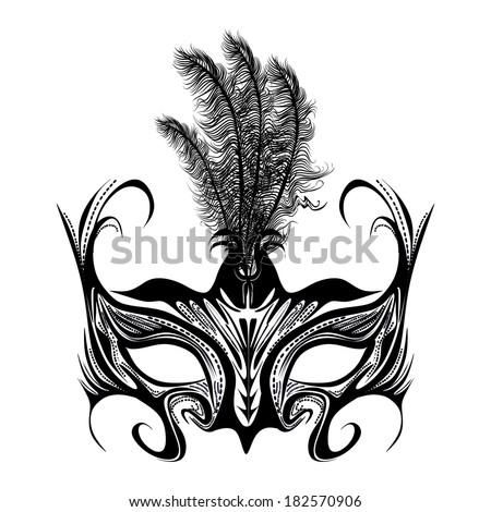 Venetian mask vector - stock vector