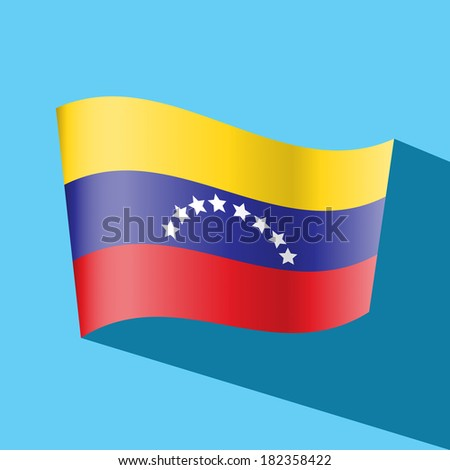 venezuela flag vector icon - stock vector