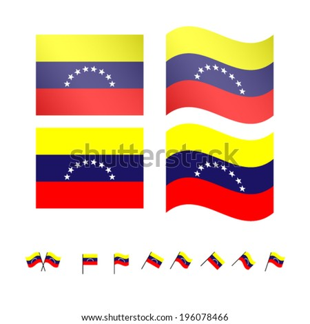 Venezuela Flags EPS 10
