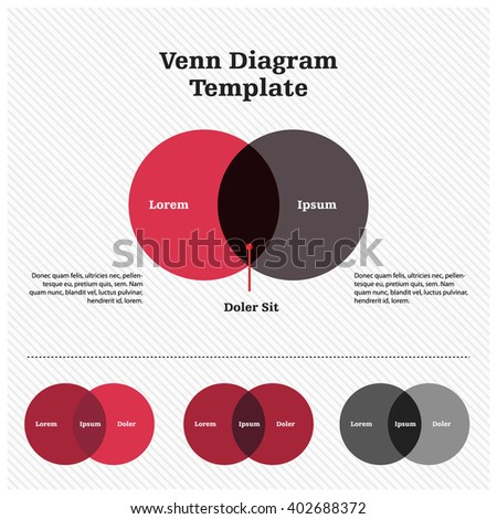Hand drawn venn diagram template stock vector 392927302 shutterstock venn diagram template design ccuart Images