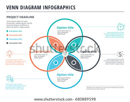 Venn Diagram  Circles Infographics Template Stock Photo Photo