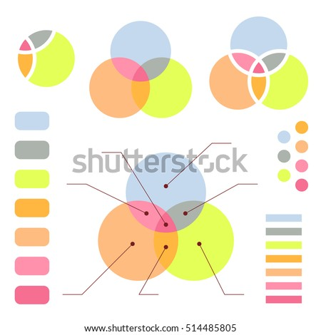 Venn Diagram Note Lines Isolated On Stock Vector 514485805