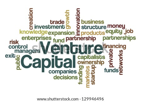 Venture Capital Word Cloud - stock vector