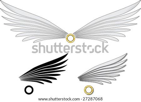 vercto angel wings - stock vector