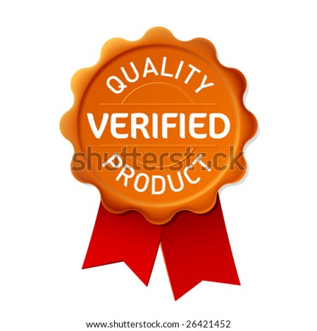 Verified. Vector emblem. - stock vector