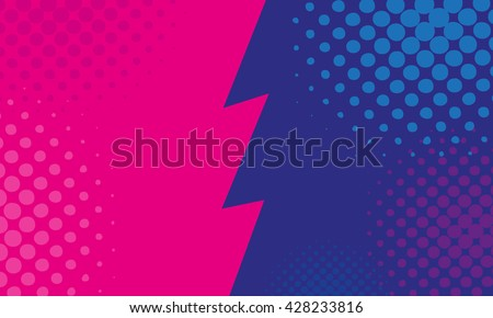 Versus backgrounds comics style design. Vector illustration - stock vector