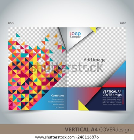 Vertical A4 Cover Design - stock vector