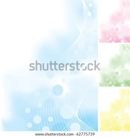 Vertical Abstract Backgrounds - stock vector