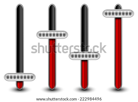 Vertical adjusters, potentiometers - stock vector
