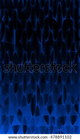 Vertical banner of polygonal elements. Blue gradient triangles. Vector illustration. For design, presentations