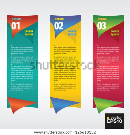 Vertical banner vector with number.EPS10 - stock vector