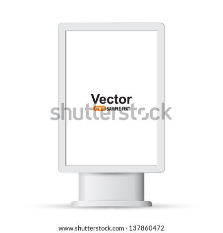 Vertical blank lightbox, vector illustration - stock vector