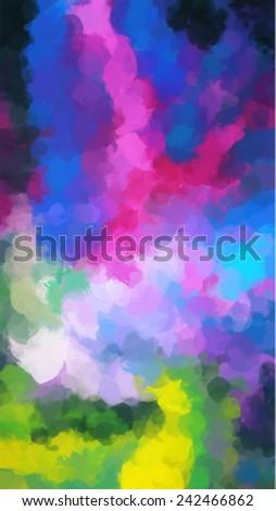 Vertical brush strokes background - stock vector