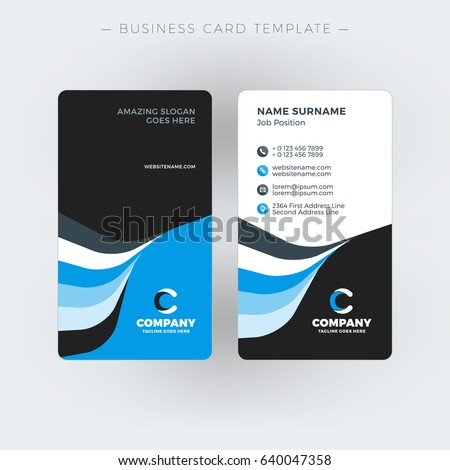 Vertical doublesided business card template vector stock vector vertical double sided business card template vector illustration stationery design colourmoves