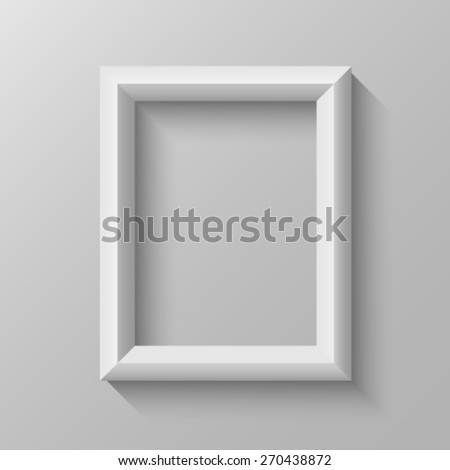 Vertical frame with bevel - stock vector