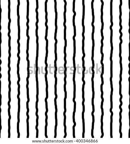Vertical irregular, hand drawn, sketchy lines. Repeatable pattern. abstract monochrome background. - stock vector