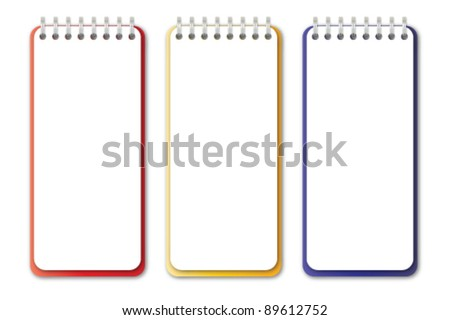 Vertical Notebook Vector - stock vector