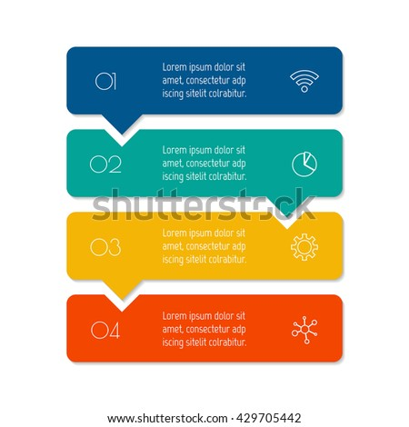 Infographic Tutorial infographic tutorial : Vector Paper Progress Steps Tutorial 4 Stock Vector 340652723 ...