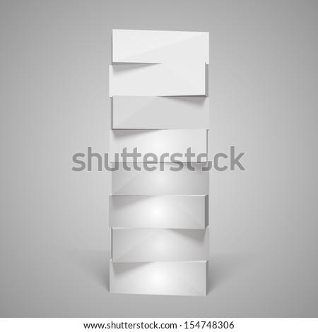 Vertical rectangular pyramid - stock vector