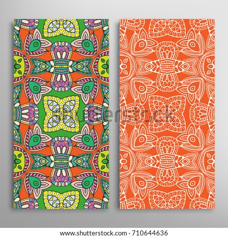 Collection Retro Cards Ethnic Backgrounds Card Vector – Ethnic Birthday Cards