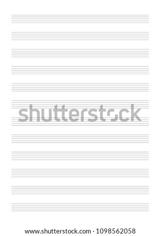 vertical 12 stave music manuscript paper stock vector hd royalty