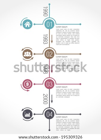 Timeline Design Elements Set Vector Eps10 Stock Vector 191646116 ...
