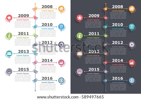 process flow diagram jquery vertical timeline infographics place icons dates stock  vertical timeline infographics place icons dates stock