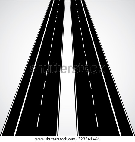 Vertical Vector Road in Perspective.