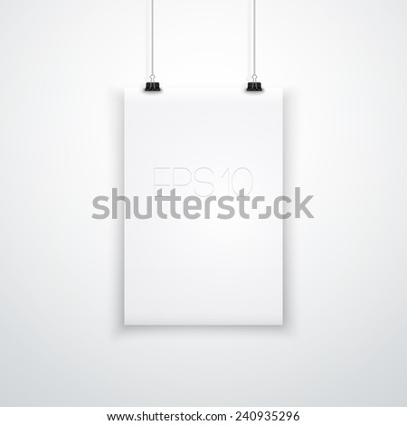 Vertical White Empty Board Template. Ideal for your Poster, Illustration, Infographic, Business, Banner and more. EPS 10 - stock vector