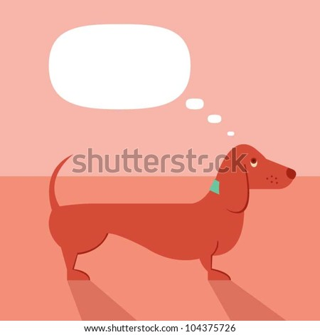 Very clever dachshund dog - stock vector