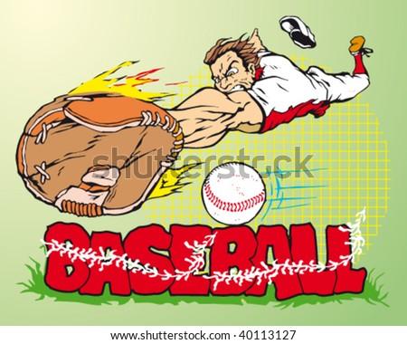 very competitive sportsmen's illustration - stock vector