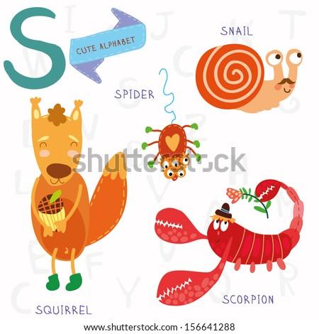 Very cute alphabet s lettersquirrel scorpion stock vector 156641288 very cute alphabet s lettersquirrel scorpion stock vector 156641288 shutterstock thecheapjerseys Gallery