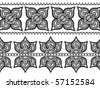Very detail Henna art Inspired Border designs - stock vector