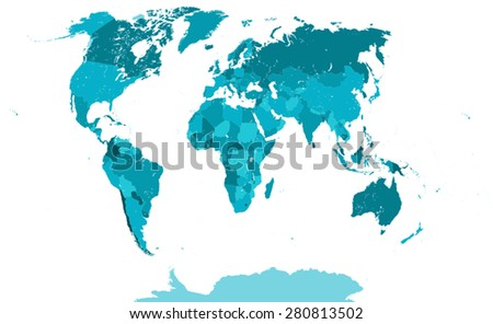 Very detailed political world map each stock vector 280813502 very detailed political world map each country placed on a separate layer name of gumiabroncs Gallery