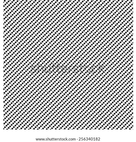 Very fine criss-cross lines. A black and white vector pattern. - stock vector