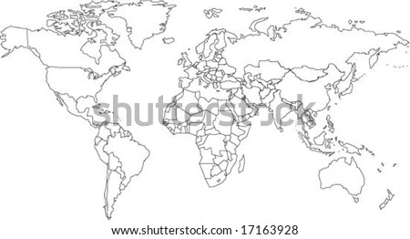 World map countries outline stock images royalty free images very fine outline of the world with country borders gumiabroncs Images