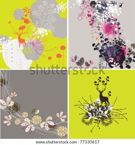 very nice and high quality floral pattern for card or fabric design - stock vector