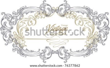 very nice and high quality vintage art - stock vector