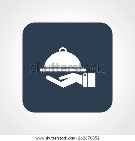 Very Useful Flat Icon of Food Service. Eps-10. - stock vector