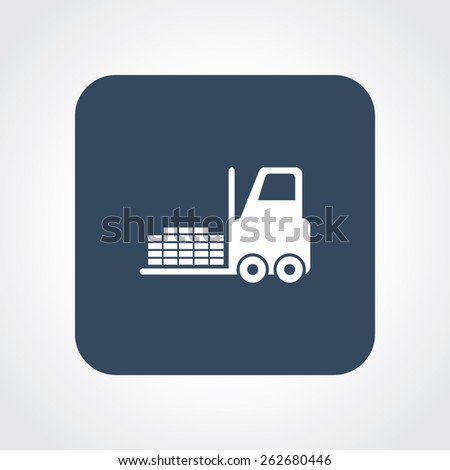 Very Useful Flat Icon of Fork Lift . Eps-10. - stock vector