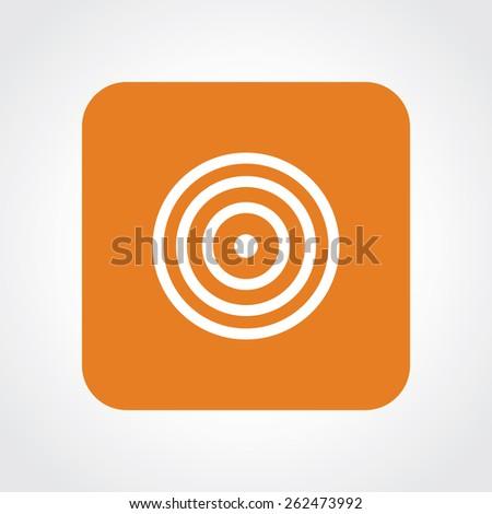 Very Useful Flat Icon of goal. Eps-10. - stock vector