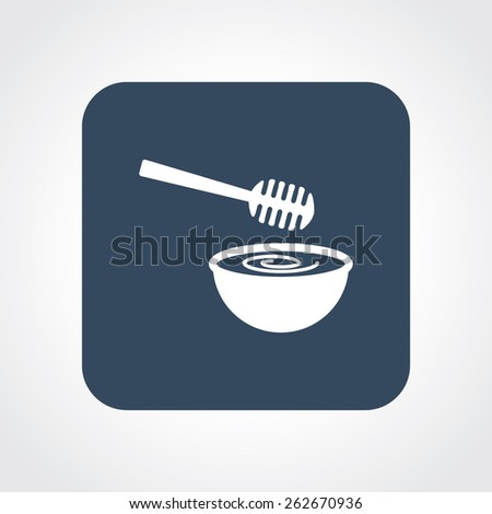 Very Useful Flat Icon of Honey Dipper. Eps-10. - stock vector