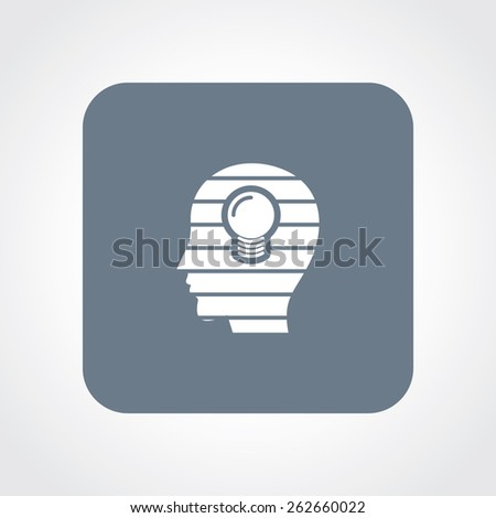 Very Useful Flat Icon of idea head. Eps-10. - stock vector