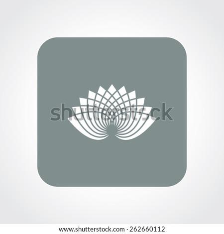 Very Useful Flat Icon of lotus. Eps-10. - stock vector