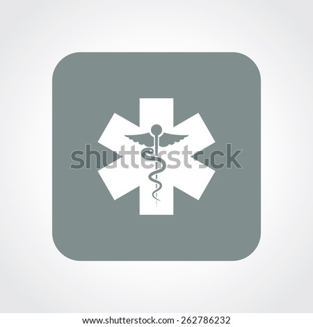 Very Useful Flat Icon of Medical Symbol. Eps-10. - stock vector