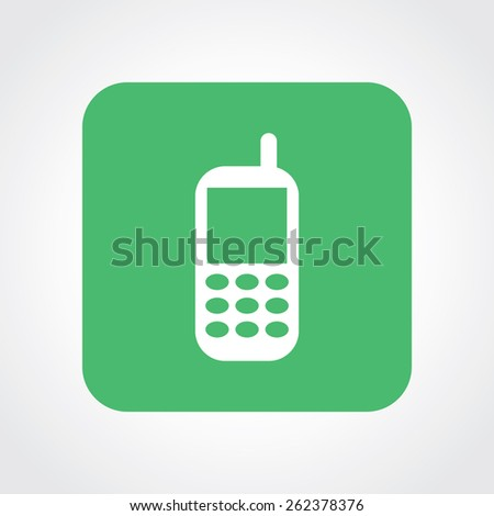 Very Useful Flat Icon of mobile phone. Eps-10. - stock vector
