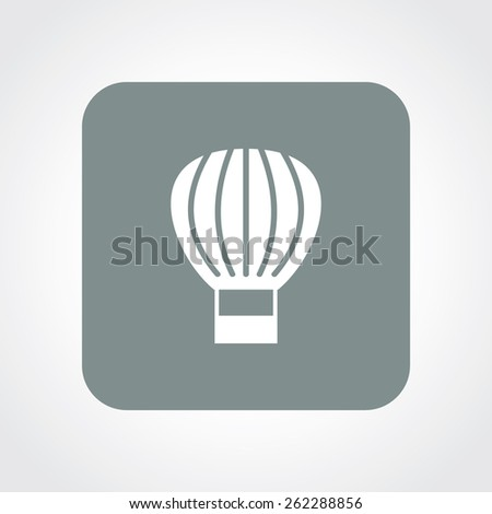 Very Useful Flat Icon of parachute. Eps-10. - stock vector