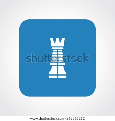 Very Useful Flat Icon of rook. Eps-10. - stock vector